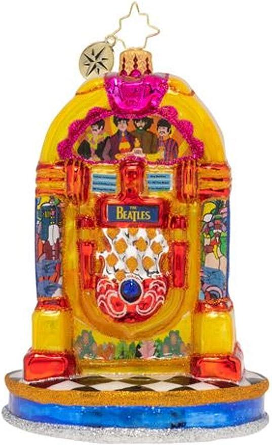 Christopher Radko Yellow Submarine with Love The Beatles Christmas Ornament