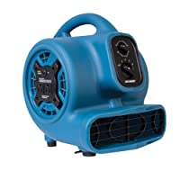 XPOWER P-230AT Mini Mighty Air Mover Utility Blower Fan with Built-In Power Outlets...