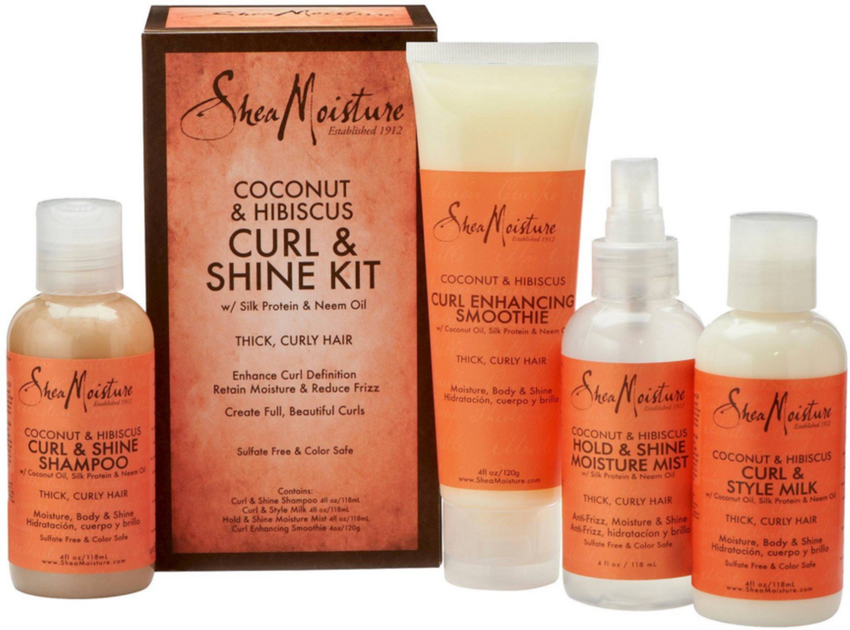 SheaMoisture 1 count Coconut & Hibiscus Curl & Shine Kit by Shea Moisture
