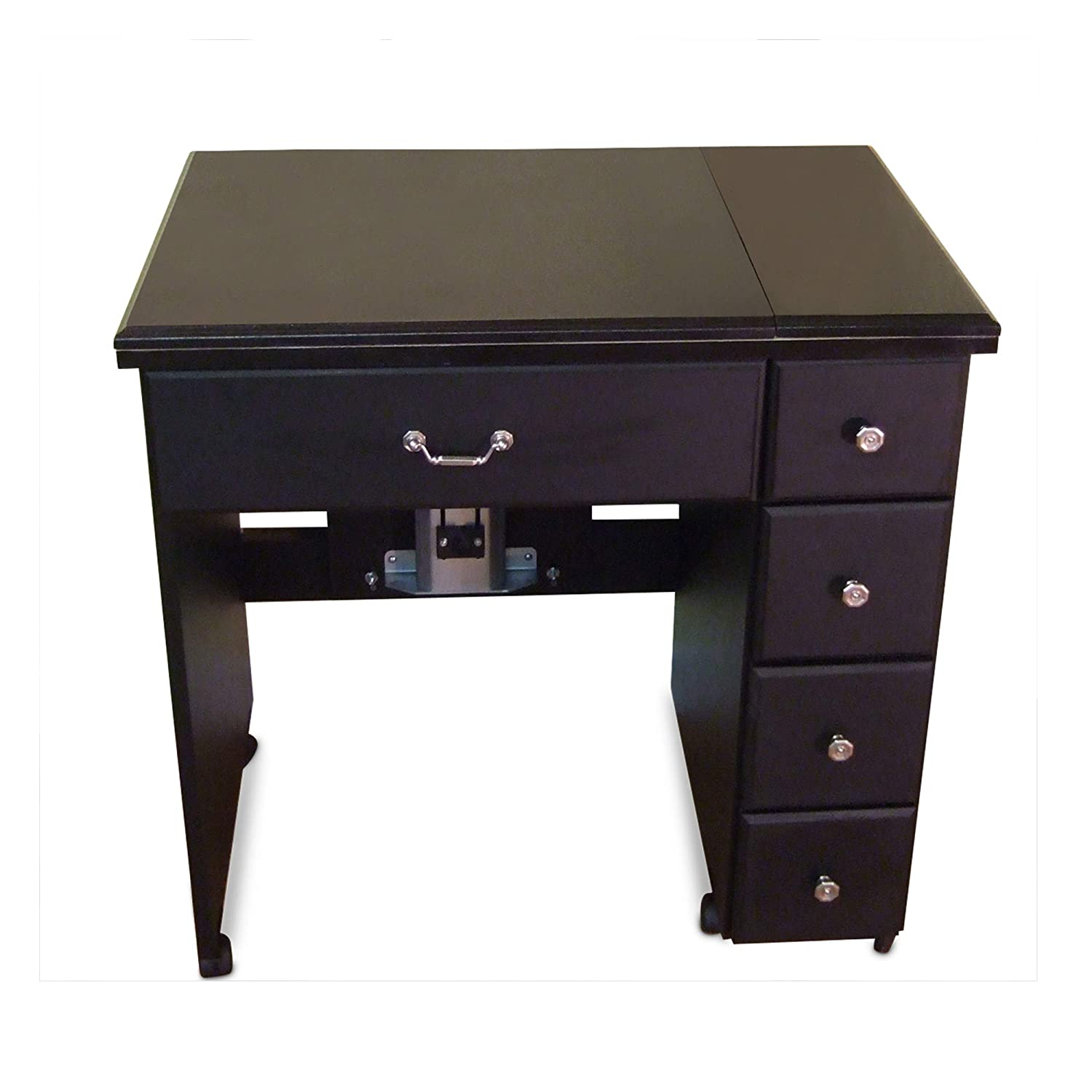 Quilting Black Finish and Crafting Portable Sewing Table with Wheels and Airlift Cutting Arrow 901 Auntie Sewing