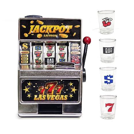 Balvi Juego de Mesa Las Vegas máquina tragaperras y 4 chupitos Plástico/Cristal ...