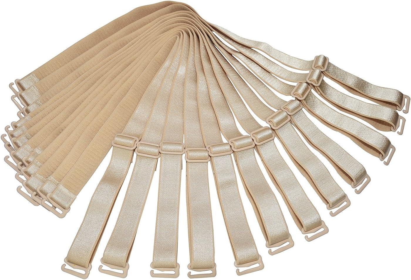 Shoulder Bra Straps Replacement 12mm 15mm 18mm Width Elastic Adjustable Removable Multi Color