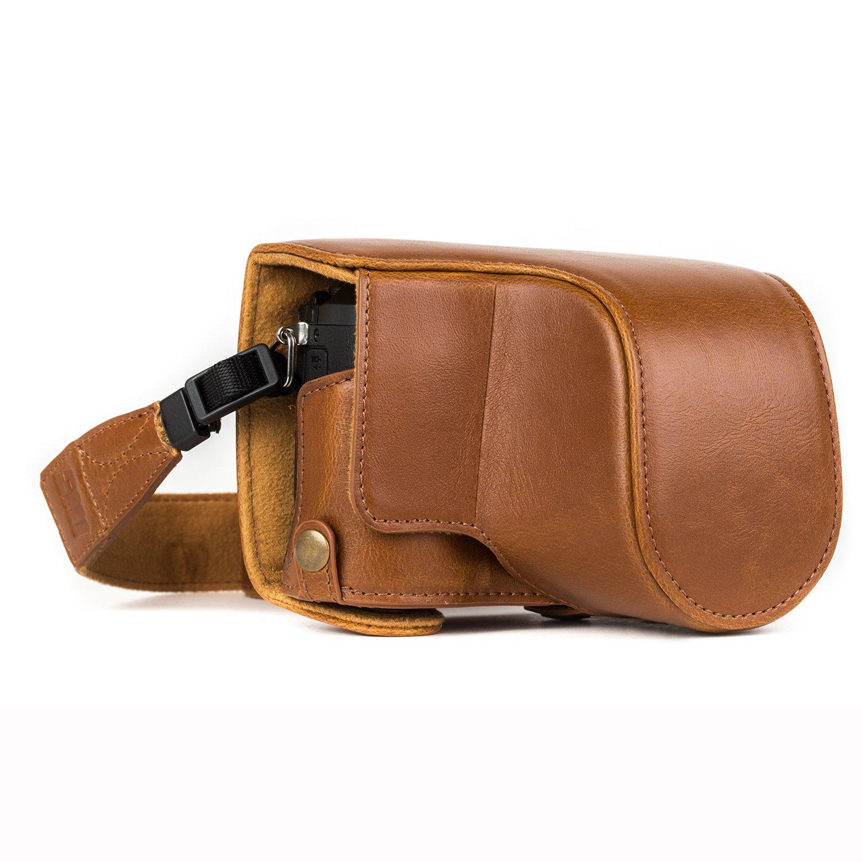 """L'étui de protection en cuir """"Toujours prêt"""" de MegaGear pour Panasonic – Facile à installer, les accessoires sont compatibles avec les trépieds et les périphériques – Compatible avec l"""
