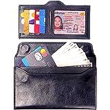 VOCUS RFID Geniune Leather Wallet for Women Minimalist Slim Cellphone Credit Card Wallet