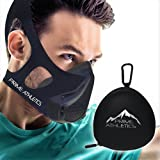 Prime Athletics Training Mask High Elevation - Altitude Workout Simulation - BONUS CASE Running Cycling MMA Fitness - 16 Levels/3 Methods = 48 Total Air Flow Effects-NON-SLIP ErgoStrap by Summit Mask