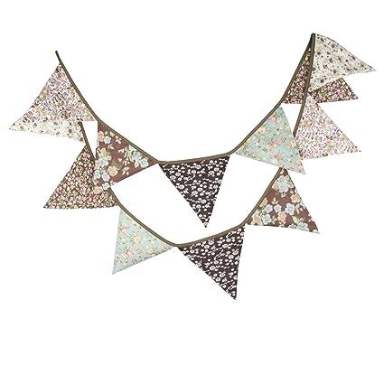 Amazon.com: Banderines de estilo rústico marrón con diseño ...
