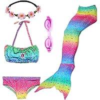 PalmTalkHome 3PCS Conjunto de Bikini de Sirena niñas