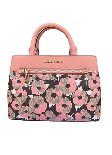 Amazon.com  Michael Kors Hailee XS Satchel Bag Peach Floral  Shoes 7e1a4eab8fb9a