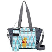 Disney Baby Diaper Winnie The Pooh Tote Bag Portable Travel Organizer Changing Pad Bottle Holder