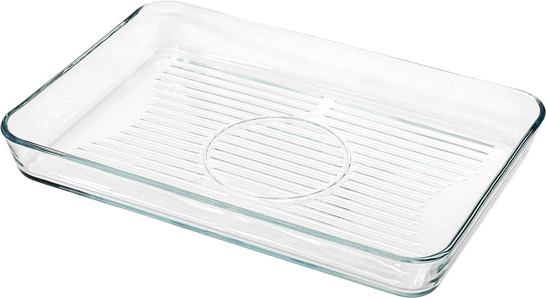 "Red Co. Rectangular Clear Glass Casserole Baking Dish, Oven Basics Bakeware — 4 Quarts - 15¾"" x 10¾"" x 2"""