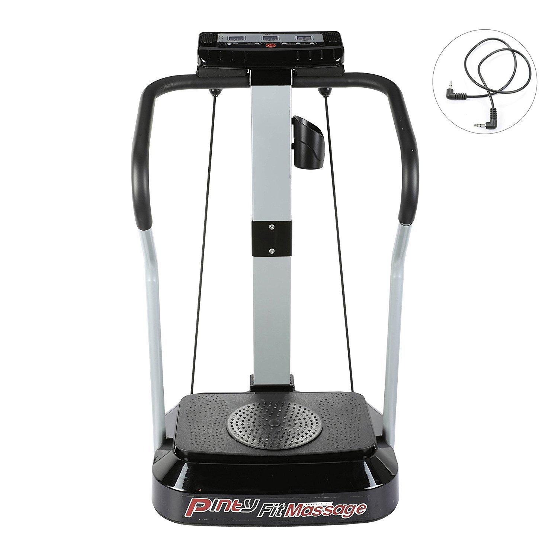 Pinty Vibrationsplatte Vibrationstrainer Ftitnessgerät Vibration Plate Trainingscomputer LED Display Fitnessbänder 99 Geschwindigkeitsstufen 2000W Motor