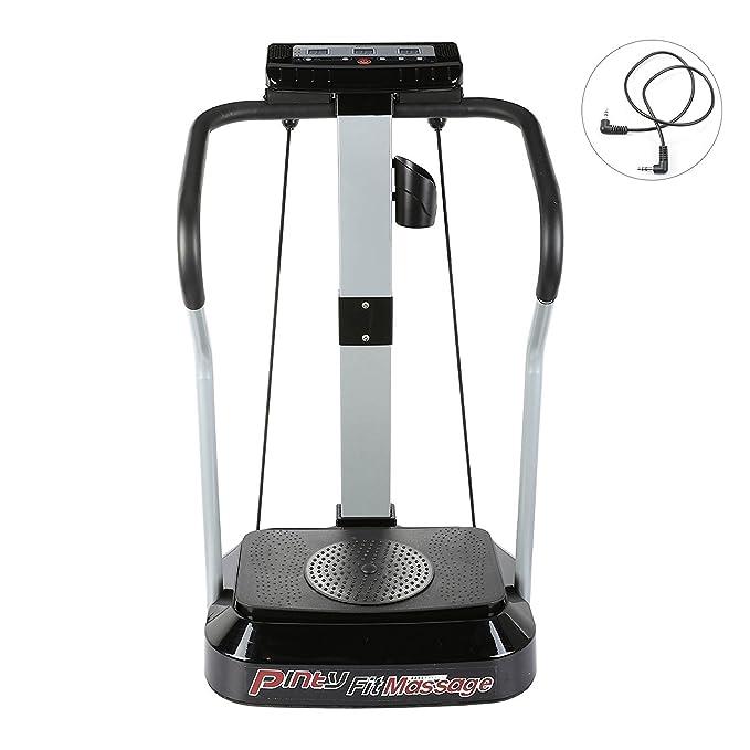 Pinty Plataforma Vibratoria para Fitness Máquina para Ejercicios Musculares Vibradores para Mujer con Pantalla LED 99 Niveles de Velocidad, Motor de ...