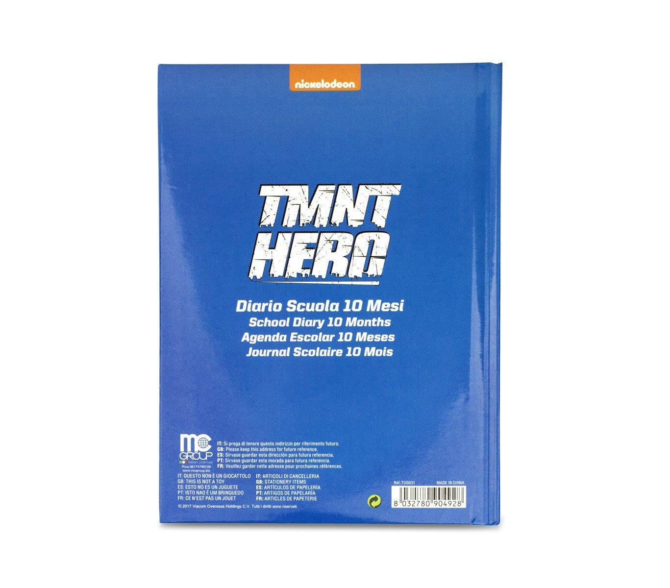 904928 Agenda 10 meses para el colegio TURTLES TMNT HERO ...