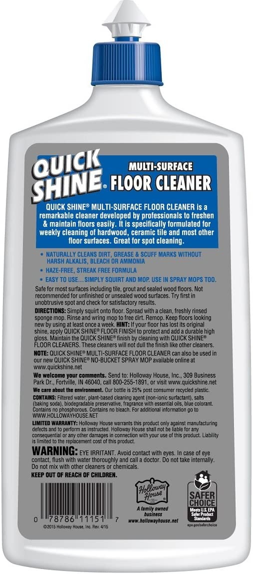 Amazon Com Quick Shine Multi Surface Floor Cleaner 27 Ounce Fl