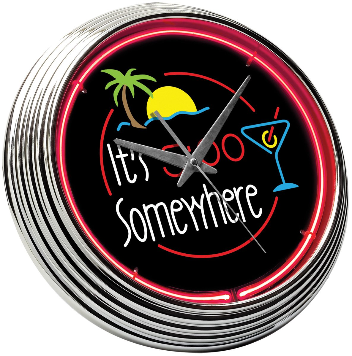 Amazon creative outdoor distributor 259102 it is 5 oclock amazon creative outdoor distributor 259102 it is 5 oclock somewhere neon clock home kitchen amipublicfo Images