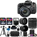 """Canon EOS Rebel T6s DSLR Camera USA Warranty With Canon EF-S 18-135mm f/3.5-5.6 IS STM Lens + 58mm 2x Professional Lens +High Definition 58mm Wide Angle Lens + Auto Flash + 59"""" Strong lightweight Tripod + UV Filter Kit With 64GB Complete Deluxe Accessory Bundle"""