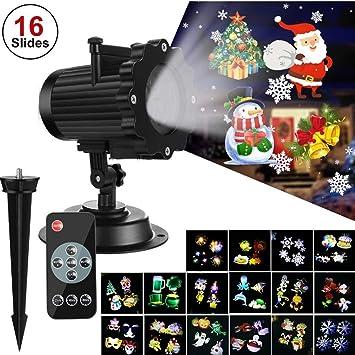 ZTXY Luces de proyector de Halloween Linterna de Navidad 16 ...