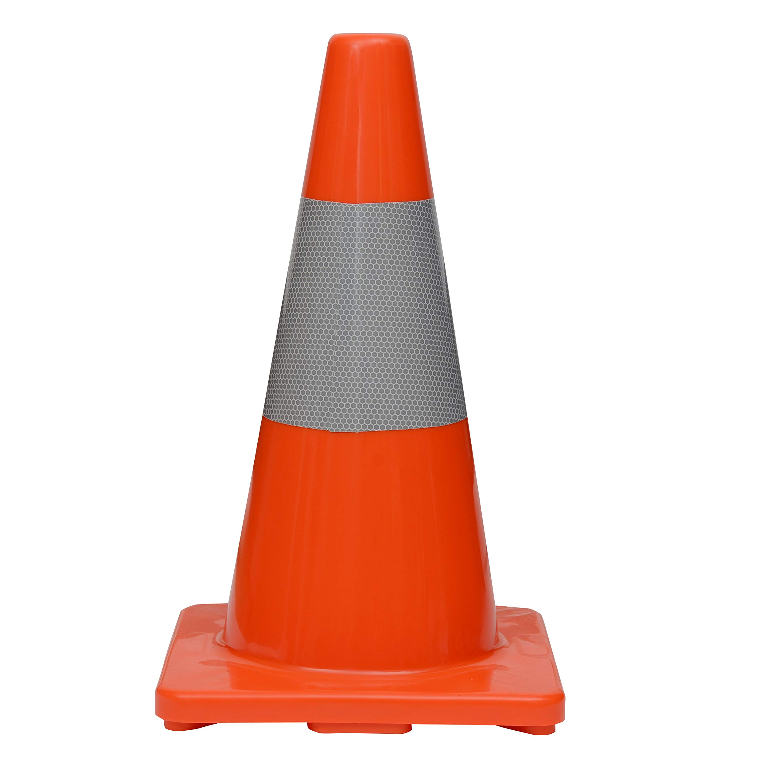 (Set of 6) CJ Safety 18'' PVC Traffic Safety Cones With Reflective Collar (6 Cones) by CJ Safety (Image #2)