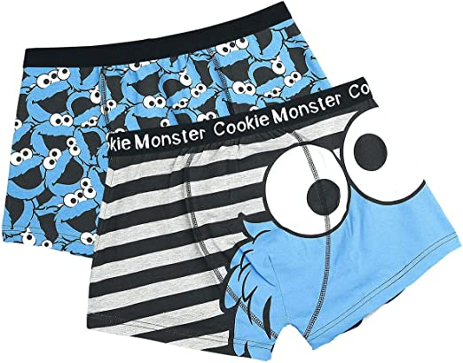Cookie Monster Pack de 2 Boxers (Azul) - S: Amazon.es: Ropa y ...