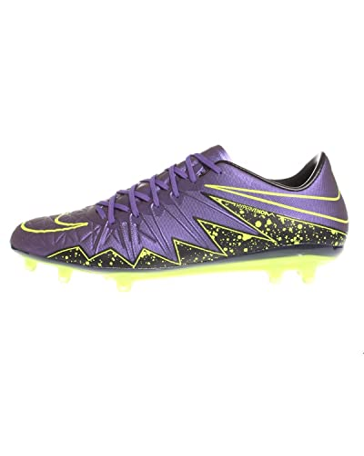 7ed922a9e832 Image Unavailable. Image not available for. Color  Nike Men s Hypervenom  Phinish (FG) - (Hyper Grape Black Volt)