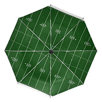 Bennigiry Paraguas americano de campo de fútbol UV – Sombrilla ligera y antirayos UV, elegante