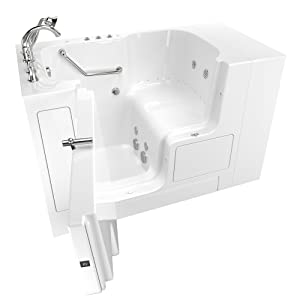 """American Standard 32""""x52"""" Left Hand Outward Opening Door Value Series Walk in Combo Whirlpool and Air Spa in White - 3252OD.709.CLW-PC"""