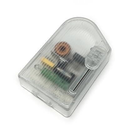 Regulador de luz para pie color transparente con cursor modelo RT 81 -RL 1104 con rango de potencia 60 a 300W