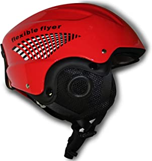 product image for Flexible Flyer Kids Snow Helmet for Youth Winter Sports, Red, Fits Heads 48 to 52 cm in Circumference, Model: H2227