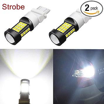 Alla Lighting 3800lm 3156 3157 White LED Strobe Brake Lights Bulbs Xtreme  Super Bright T25 3457 3057 4057 3157 LED Bulb High Power 3030 SMD 6000K