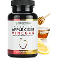 Apple Cider Vinegar Capsule Softgels with Cayenne, Lemon & Honey Make a Fresh Drink-in-a-Pill | Maximum Strength Boosted Detox Cleanse *