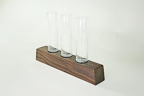 Walnut 4-Hole Vase Holder