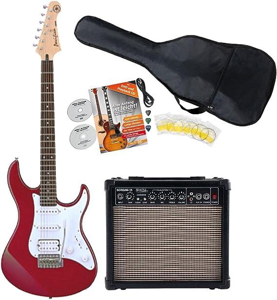 Yamaha Pacifica 012 RM S de guitarra Starter Set (con amplificador y juego de accesorios), funda, red Metallic: Amazon.es: Instrumentos musicales