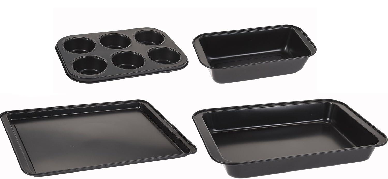 Set Compuesto de 4 Piezas para pastelería Panificadora Buzón Forma Muffin Molde Molde Forma - Ramequín, Revestimiento Antiadherente, Libre de PFOA: ...