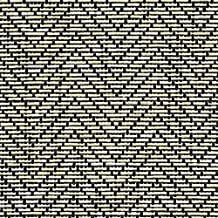 Magic Cover Natural Weave Non-Adhesive Liner for Shelves, Drawers and Counter Tops, Zig Zag Black/Ivory, 12 inches by 4 feet