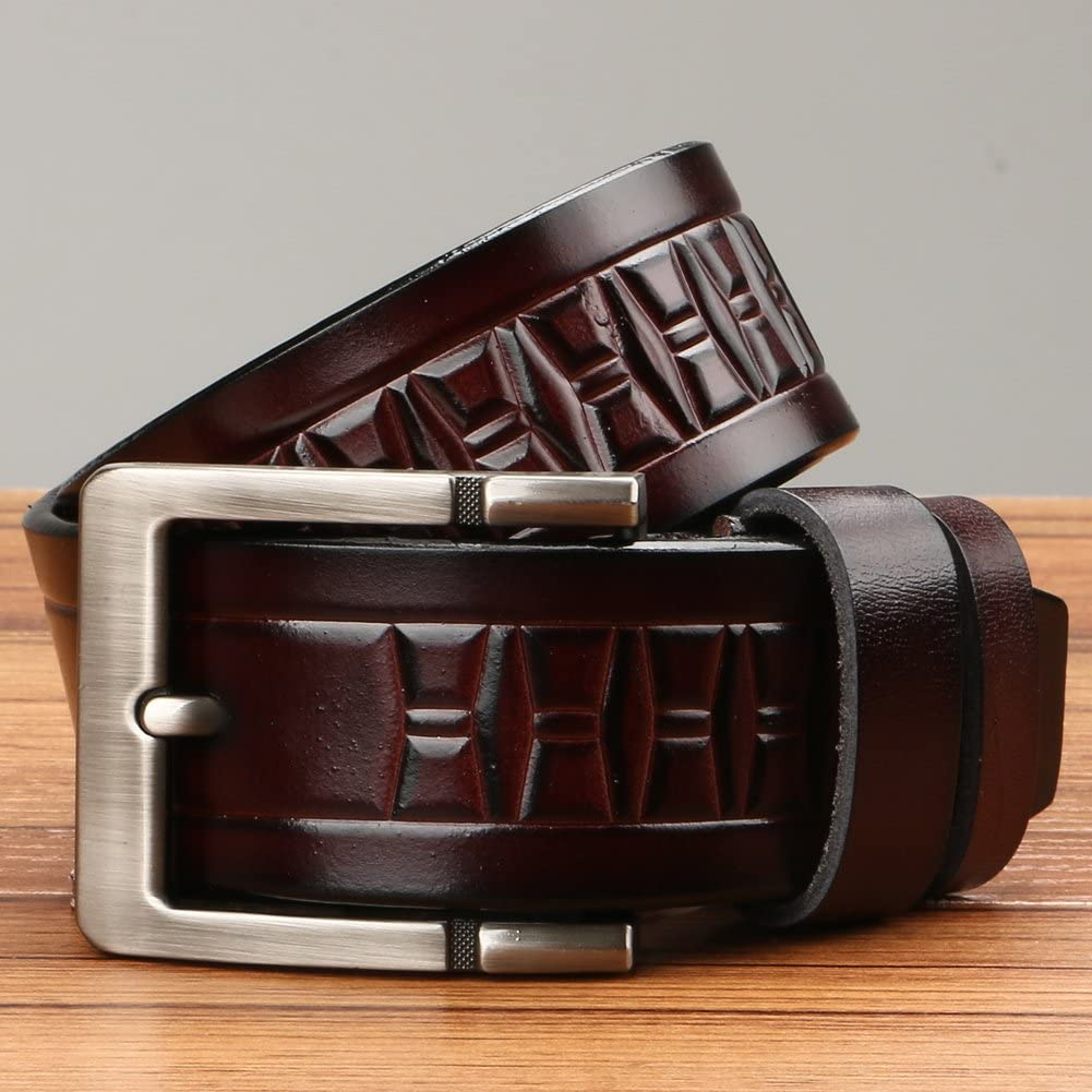 Classic cowboy Mens Retro Genuine Leather Belt