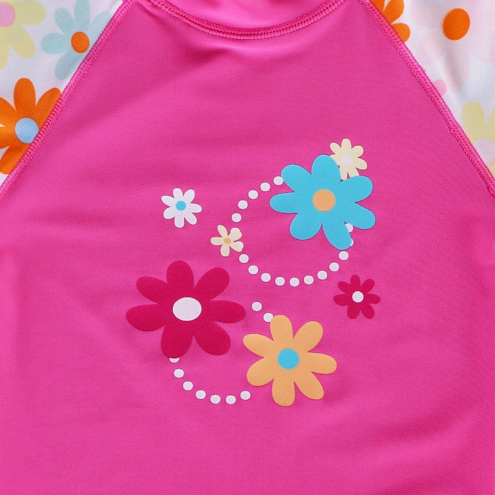 UV Protective BAOHULU Girls Swimsuit Two-Piece Tankini UPF 50 3-12 Years
