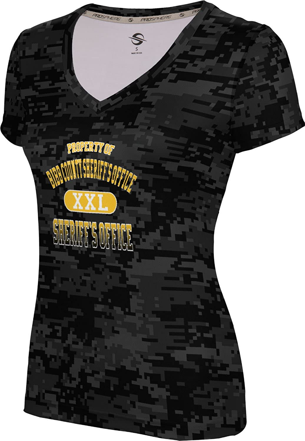 ProSphere Women's Bibb County Sheriff's Office Digital SL V-Neck Training Tee