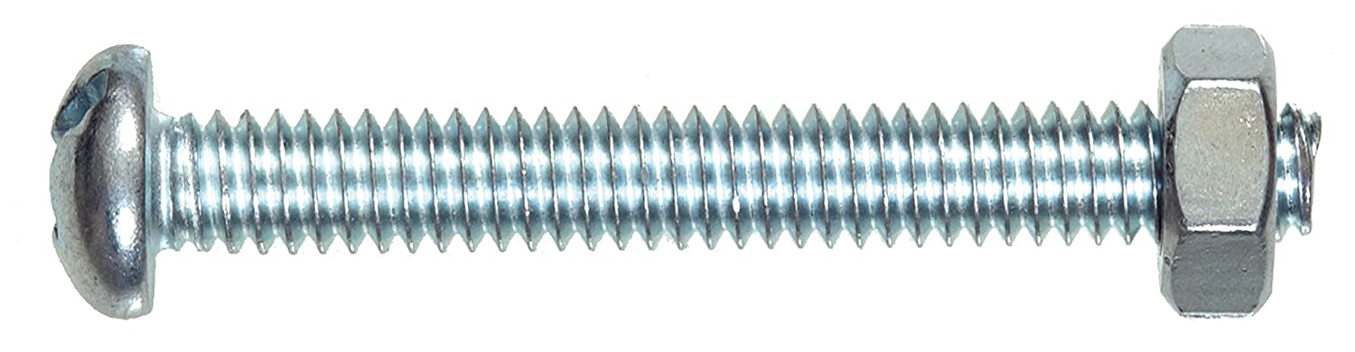 6-32 x 1-1//4-Inch The Hillman Group 35277 Round Head Combo Machine Screw with Nut 100-Pack