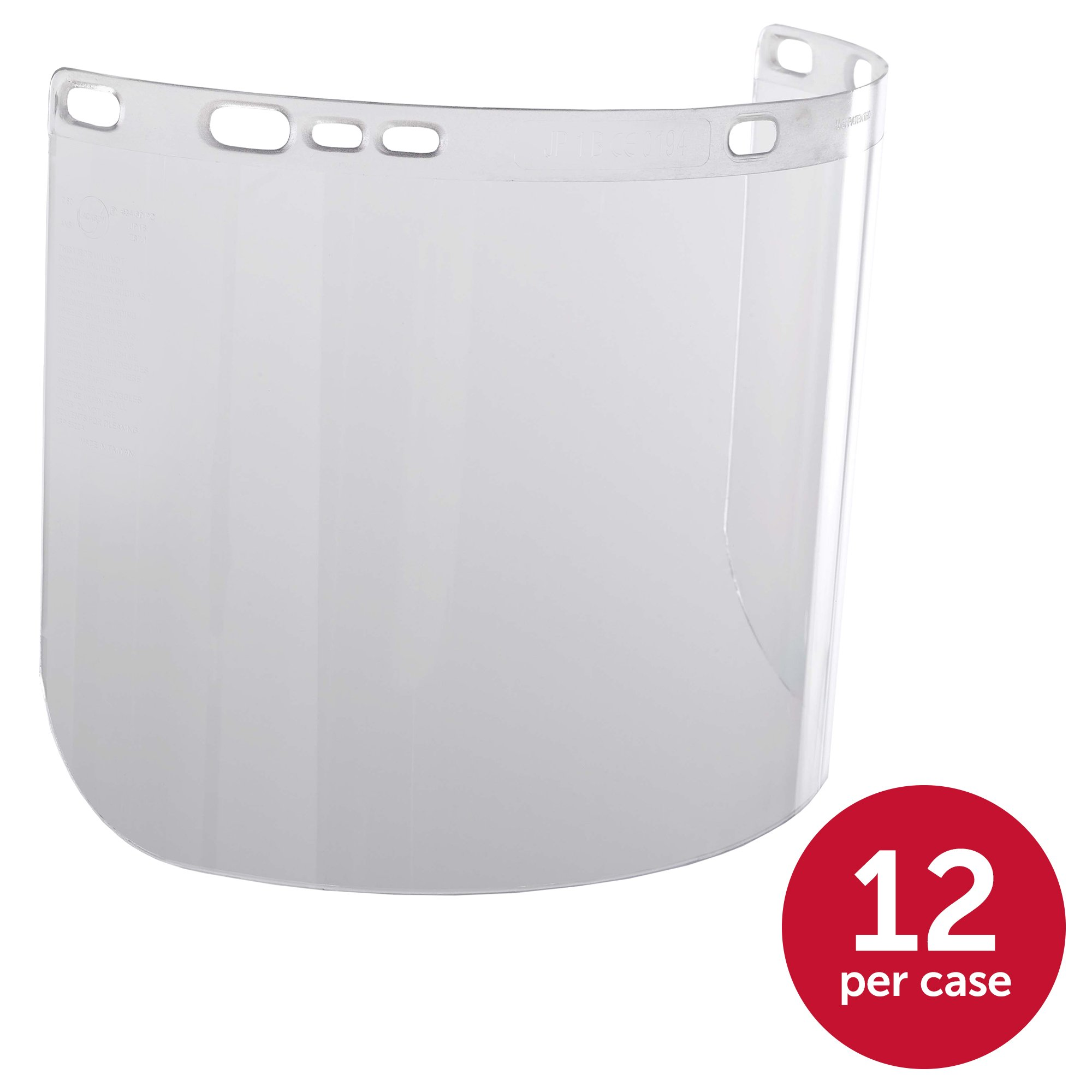 """Jackson Safety F20 High Impact Face Shield (14132), Polycarbonate, 8"""" x 15.5"""" x 0.06"""", Clear, Face Protection, Unbound, 36 Shields / Case by Jackson Safety (Image #2)"""
