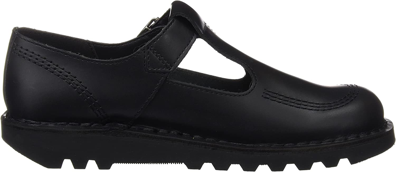 Kickers Kick Lo Aztec Black Leather Adult Mary Jane Shoes