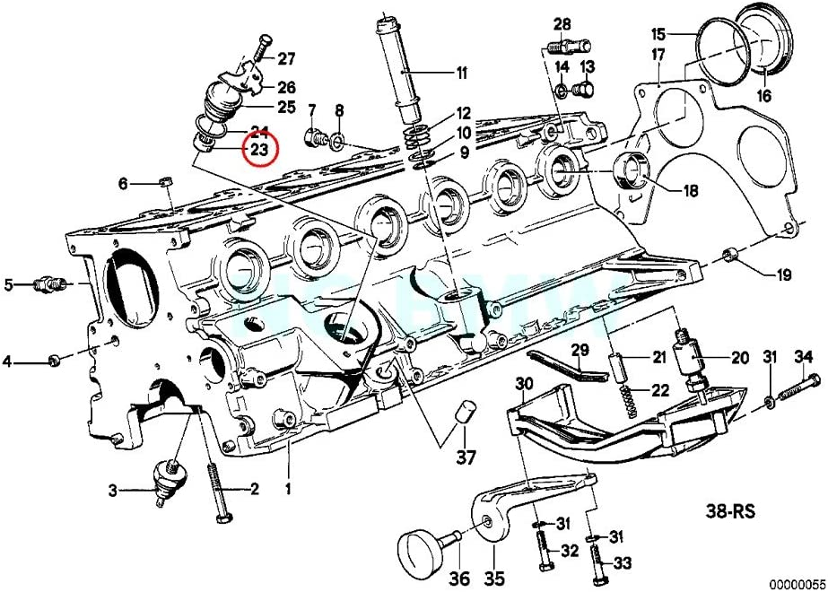 bmw e28 engine diagram amazon com bmw genuine needle sleeve automotive  amazon com bmw genuine needle sleeve