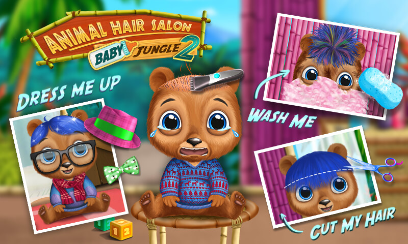 Baby Animal Hair Salon 2 Jungle Style Makeover Amazon Es Appstore Para Android