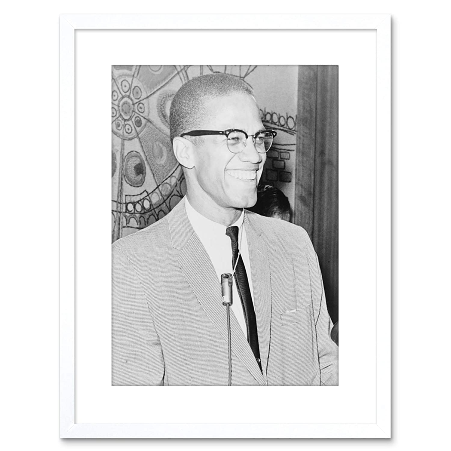 LOOKS AWESOME FRAMED MALCOLM X BEAUTIFUL POSTER  PRINT