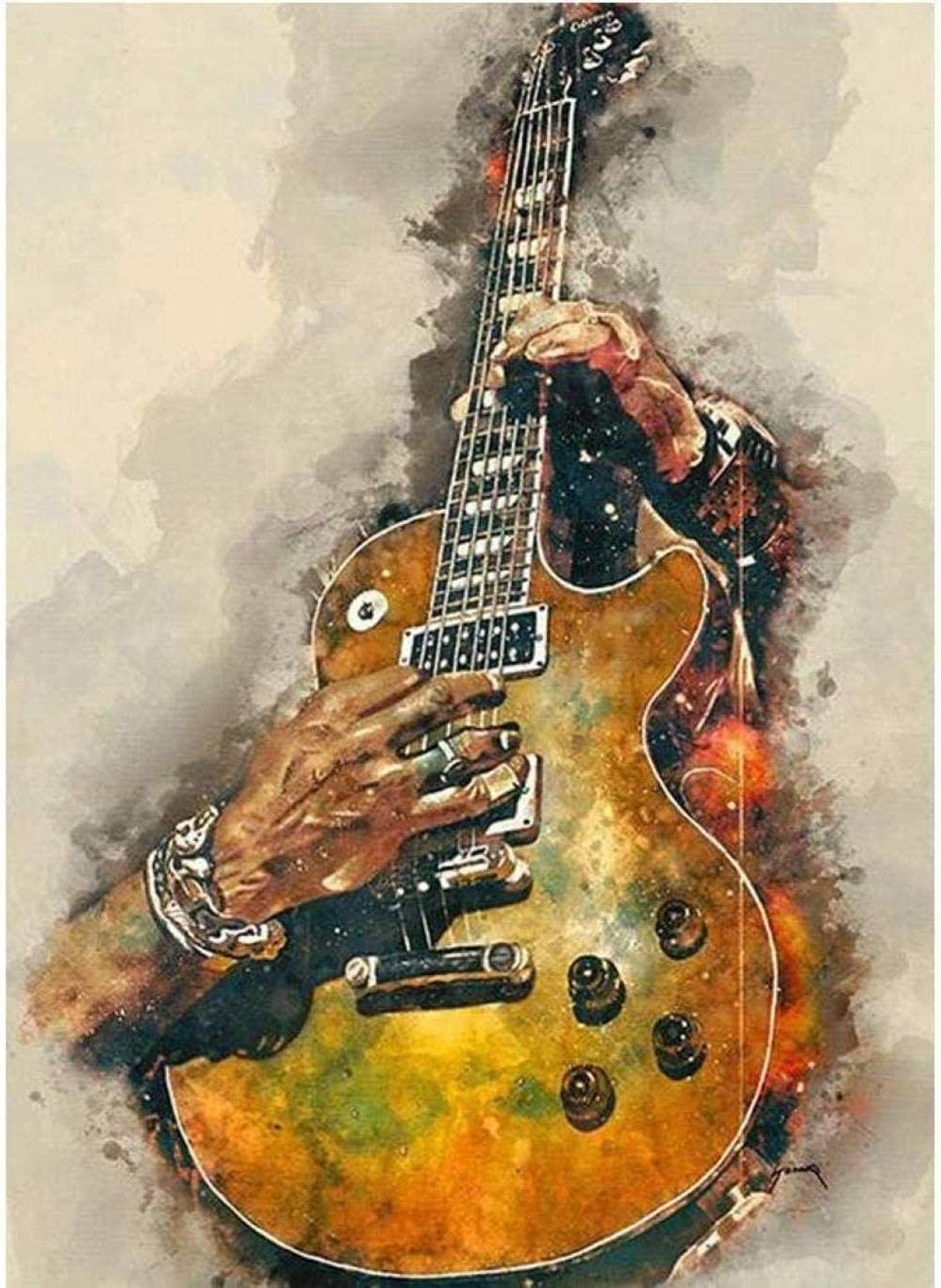WYTCY Pintar Por Números - Guitarra. Pintura Al Óleo De Lienzo De Lino, Pintura De Arte Moderno, Kit De Pintura De Bricolaje, Adecuado Para Adultos Y Principiantes40*50CM