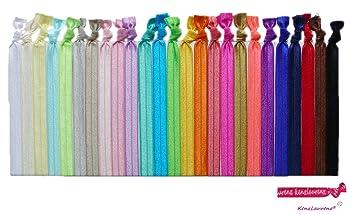 Amazon.com   No Crease Hair Ties HEADBANDS - 10 Pack By Kenz Laurenz    Ribbon Headband   Beauty 7fa690b8b7e
