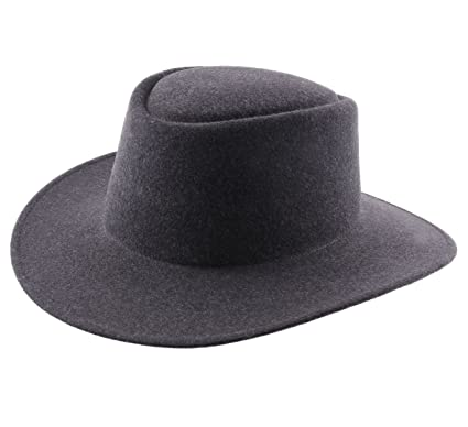 8720ff65093 Classic Italy Nude Cordobes Wool Felt Fedora Hat Size 54 cm Anthracite