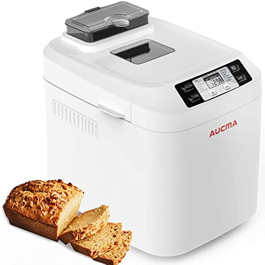 AUCMA Panificadora de 550W, 12 programas, sin gluten, hasta 800g ...