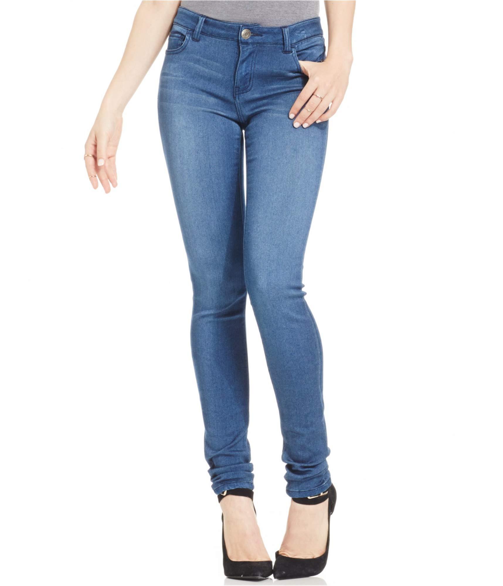 5a0b229ca76b95 Celebrity Pink Jeans Women's Super Soft Mid Rise Skinny Jean - Denim Fit