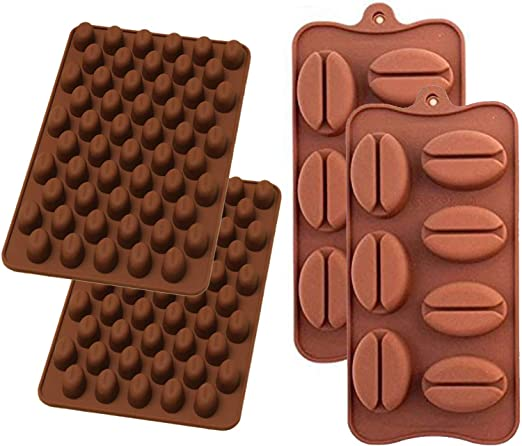 55 Mini Coffee Bean Silicone Mould Cake Chocolate Baking Mold Jelly Candy Soap