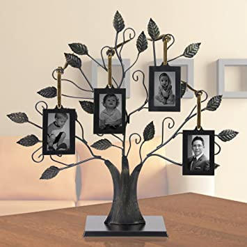 Family Tree with 4 Hanging Photo Frames